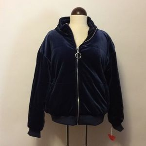NWT Mossimo Puffy Velvet Jacket
